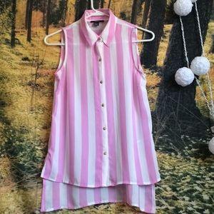 Forever21 stripped blouse sleeveless blouse small